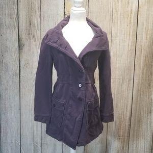 Prana Purple Button Up Jacket size Small